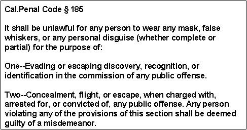 California Penal Code Section 185