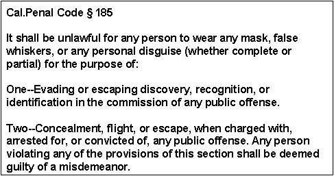 California Penal Code Section 185
