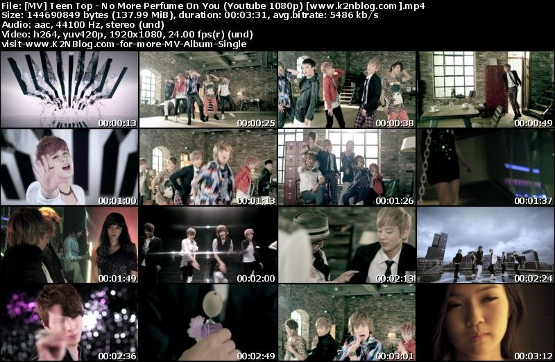 [MV] Teen Top   No More Perfume On You (HD 1080p Youtube)