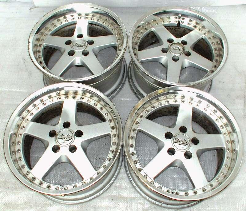 WORK EQUIP 17 10J +8 Alloy rims Wheels 5x114 GTR R32 R33 EVO